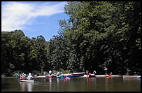 paddlers canoeing and kayaking Wildcat Creek